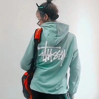 Stussy Women Fashion Hooded Top Sweater Pullover Hoodie