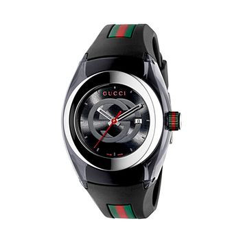 Gucci Sync L Rubber Strap Swiss Quartz Sports Ladies' Watch