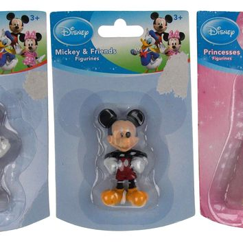 Disney Mickey Minnie Mouse Princess Ariel Figurines Set 3 Miniature Toy Cake Top