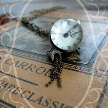 The Beatrice Pocket Watch Necklace by sodalex on Etsy