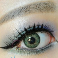 GEO Sparkling Green Circle Lenses Colored Contacts