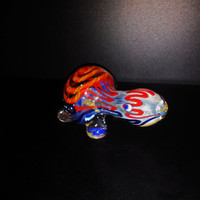 Turtle Glass Smoking Pipe - Tobacco Bowl Cute, Colorful, Adorable