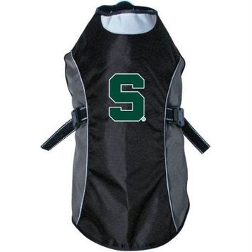 ONETOW Michigan State Spartans Water Resistant Reflective Pet Jacket