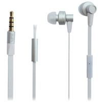 QFX Stereo Earbuds with Inline Microphone- White