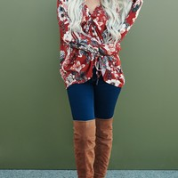 Floral Feels Cinched Top (Rust)