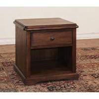 Sunny Designs 3231AC-E Savannah End Table In Antique Charcoal