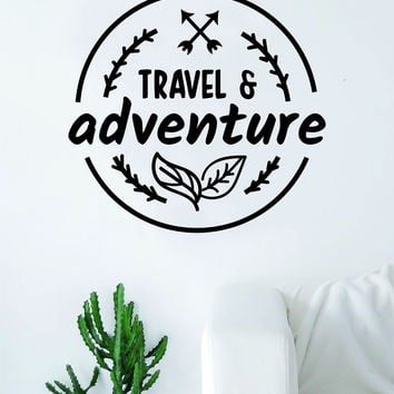 Travel & Adventure Quote Wall Decal Sticker Bedroom Living Room Art Vinyl Beautiful Inspirational Travel Wanderlust