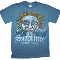 Sublime Blue Sun Logo Watercolor Rock Band T-Shirt,