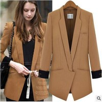 Europe and America new spring autumn long-sleeved suit Blazers women's large size small suit jacket womens Blazers