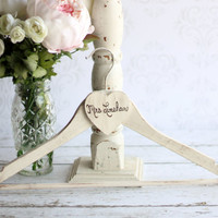 Personalized Wedding Dress Hanger Shabby Chic Bridal Shower (item P10142)