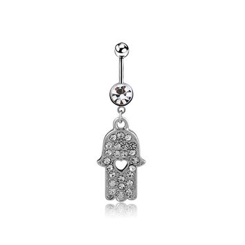New Charming Dangle Crystal Navel Belly Ring Bling Barbell Button Ring Piercing Body Jewelry = 4804888004