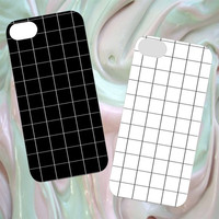 Grid iPhone Cases 4/5/6 | Black and White Grid | Tumblr Cute Cool Kawaii Seapunk *ON SALE*