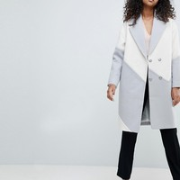 ASOS Colourblock Oversized Formal Coat at asos.com