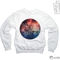 One Direction Sweatshirt WOMENS - They Don't Know Us Galaxy Sweater - 137