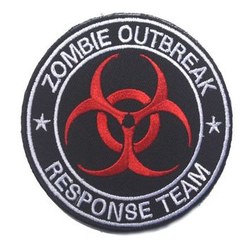 Zombie outbreak response team military patch movies custom logo patches for jacket clothing decoration
