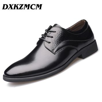 DXKZMCM Men Dress Shoes Casual Shoes Flats Business Oxford Shoes Black Brown Men Oxfor