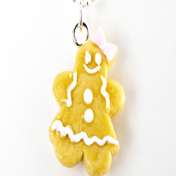 gingerbread cookie necklace