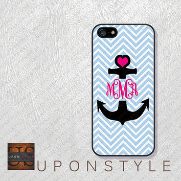 Phone Cases, iPhone 5S Case, iPhone 5 Case, iPhone 5C Case, iPhone 4 case, iPhone 4s case, Chevron Anchor, Case for iphone No-5D0022