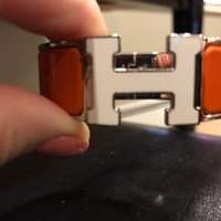 Hermes clic clac h bracelet Orange With White H