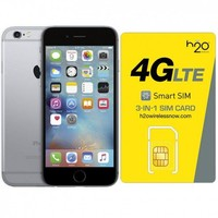 Certified Preowned Apple iPhone 6S Space Gray AT&T 16GB & H20 4G LTE SIM Card (1GB Data Included)