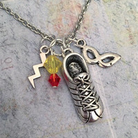 Fastest Man Alive Necklace, Superhero Necklace, Hero Jewelry, Comic Book Jewelry, Fandom Jewelry, Fangirl Jewelry