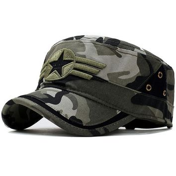 Trendy Winter Jacket Men's Tactical Cap Army SWAT Camo Snapback Hat Hunter Outdoor Combat Casual Camping Camouflage Bone Baseball Cap Adjustable AT_92_12