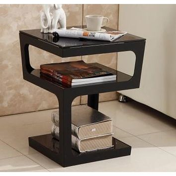 Modern table black white corner several sofa edge a few small door model small side table..