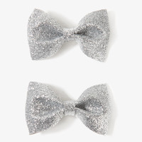 Sparkling Bow Hair Clips