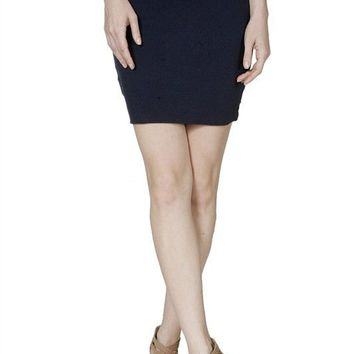 Casual & Sports Solid Jersey Bodycon Stretch Slim Mini Skirt