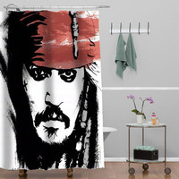 Jack Sparrow Johnny Depp Custom Shower curtain decorative shower curtain size 36x72,48x72,60x72,66x72