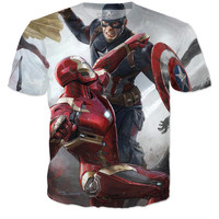Captain America Civil War Shirt