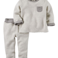2-Piece French Terry Top & Pant Set
