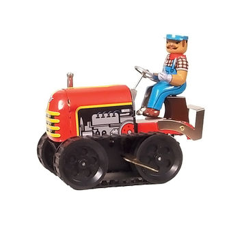"Alexander Taron Home Decoration Collectible Tin Toy - Tractor - 5.5""""H x 3.5""""W x 6""""D"
