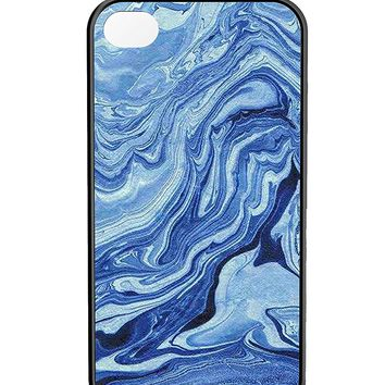 Blue Marble Texture iPhone 4/4s Case Black