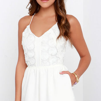 Deep Sea Diver Ivory Lace Romper
