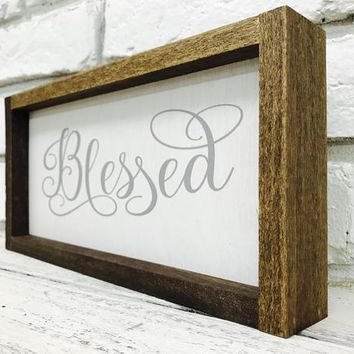 Blessed Farmhouse Home Decor Sign
