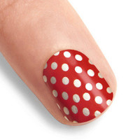 You've Got Nail Stickers in Dotted Cherry | Mod Retro Vintage Cosmetics | ModCloth.com $11.99