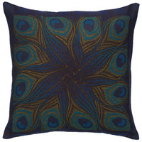 Louis C. Tiffany Peacock Feather Pillow Cover