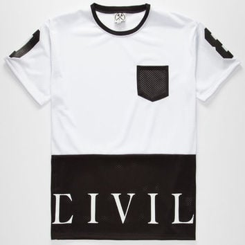 Civil Our League Mens Mesh Pocket Tee White  In Sizes