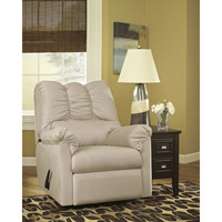 Flash Furniture Signature Design by Ashley Darcy Rocker Recliner in Stone Fabric [FSD-1109REC-STO-GG]