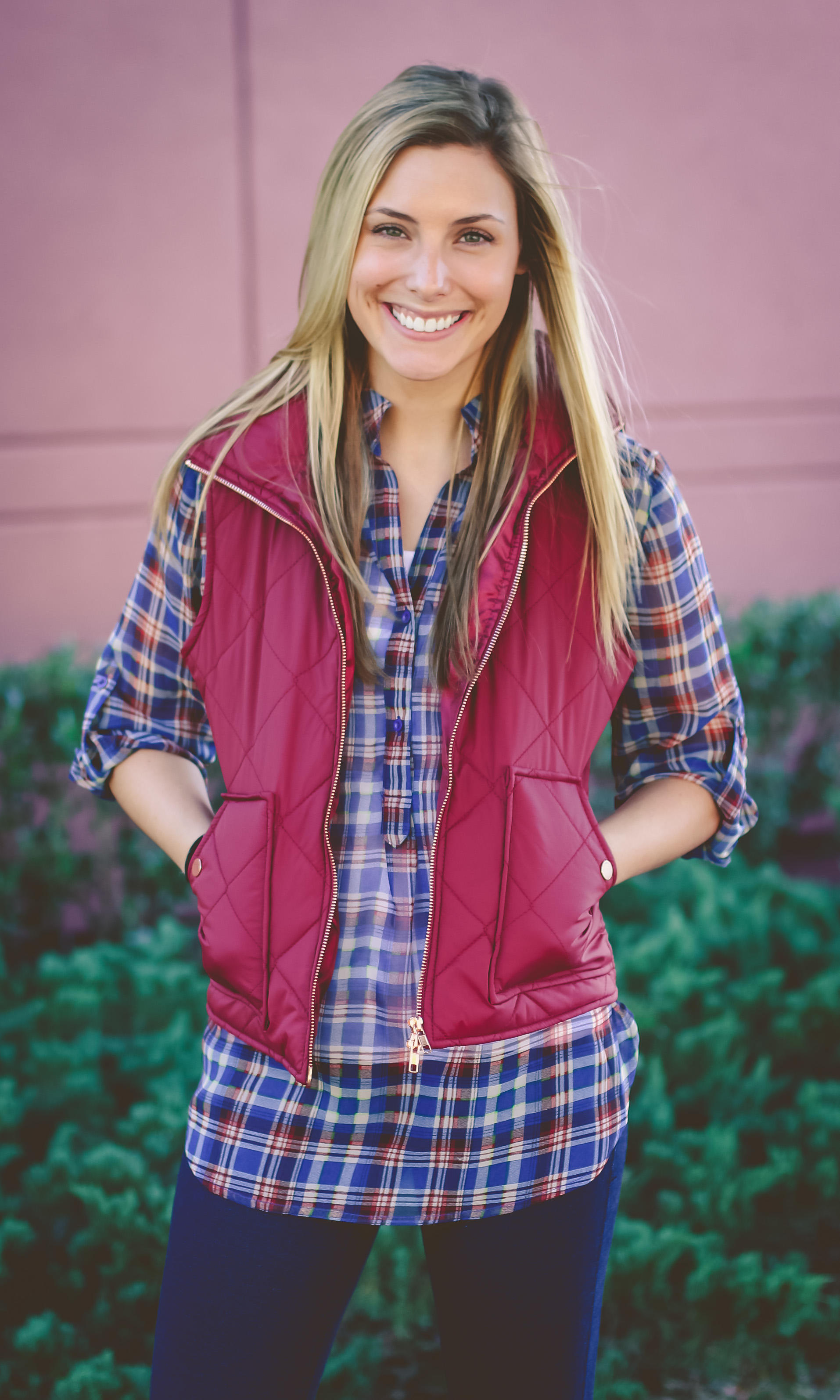 Puffer Vest Wine From A Cut Above Boutique