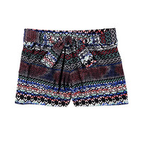 Tied Tribal Print Shorts (Kids)