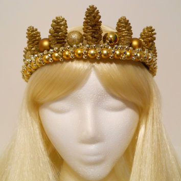 Gold Crown, for a Princess, Queen, Golden, King, Game of Thrones, Headpiece, Costume, King, Reign, Royal, Burning Man, Winter, Tiara