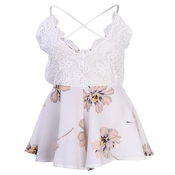 Summer Styles women Lace Print Floral Casual Beach Dress Ladies Vest Dresses Girls Crochet Sundresses Plus Size women clothing