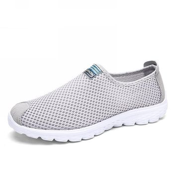 Unisex Breathable Mesh Flat Shoes