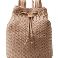 Deux Lux Women's Woven Varick Backpack - Pink