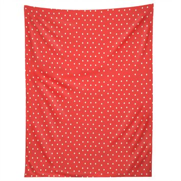 Allyson Johnson Red Dots Tapestry