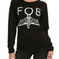 Fall Out Boy Bat Girls Pullover Top
