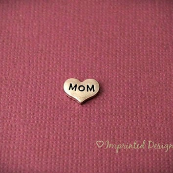 Mom Heart Floating Charm for Floating Locket / Memory Locket / Mom Floating Charm