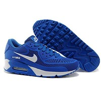 Nike Air Max 90 Fashion Woman Men Casual Running Sport Shoes Sneakers Blue I